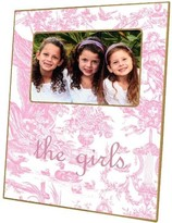 The Well Appointed House Pink Toile Decoupage Frame-Can Be Personalized