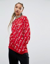 adidas X Pharrell Williams Graphic Print Sweatshirt
