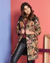Fashion World Tapestry Coat With Faux Fur Collar