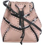 Diesel stud detail shoulder bag - women - Leather - One Size
