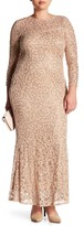 Marina Long Lace & Sequin Gown (Regular & Plus Size)