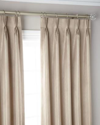 "3-Fold Pinch Pleat Shimmer Curtain Panel, 132"""