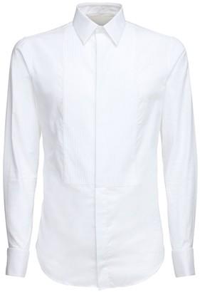 Giorgio Armani Plisse Cotton Poplin Shirt