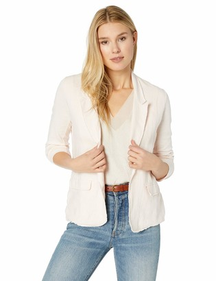 Majestic Filatures Women's Linen Long Sleeve Blazer w/Pockets