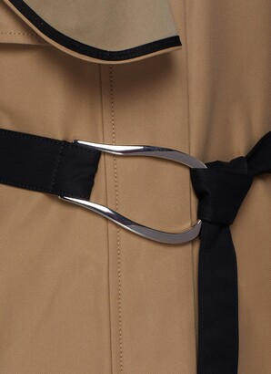 VVB Drape Detail D-ring Belted Trench Coat