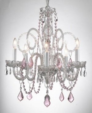 Harrison Lane Empress 5-Light Crystal Chandelier with Crystal Pendant