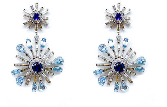 Arthur Marder Fine Jewelry 14K & Silver 5.05 Ct. Tw. Diamond & Gemstone Drop Earrings
