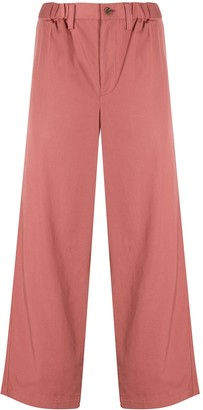 Issey Miyake High-Rise Straight Leg Trousers