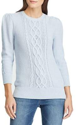 Lauren Ralph Lauren Slim-Fit Cable-Knit Cotton Sweater