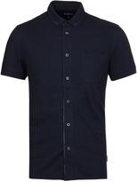 Barbour Somerton Navy Button-through Short Sleeve Polo Shirt