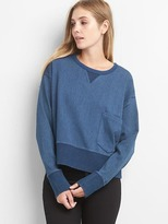 Gap Denim pocket crop pullover