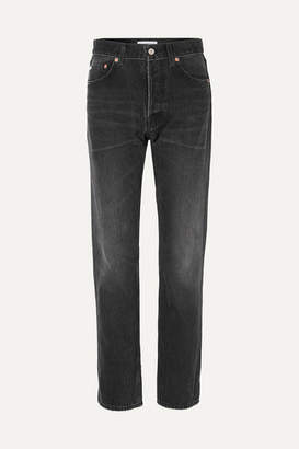 Balenciaga Distressed High-rise Straight-leg Jeans - Black