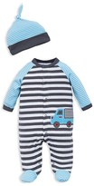 Offspring Infant Boys' Truck Footie & Hat Set - Sizes Newborn-9 Months