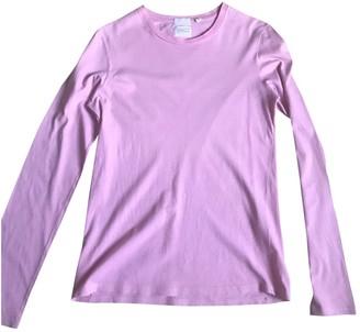 Helmut Lang Pink Cotton T-shirts