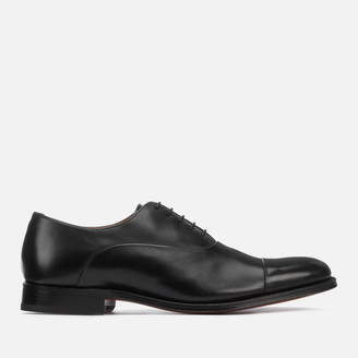 Grenson Men's Bert Leather Toe Cap Oxford Shoes - Black