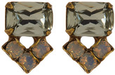 Sorrelli Rectangle Crystal Stud Earrings