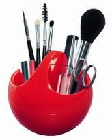Spirella Bowl Shiny Polystyrol Make-Up Basket, Red
