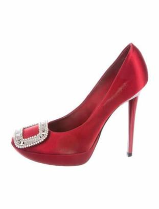 Roger Vivier Crystal Embellishments Pumps Red