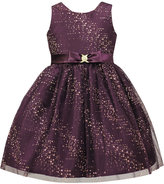 Jayne Copeland Splash Glitter Special Occasion Dress, Little Girls (4-6X)