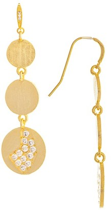 Rivka Friedman 18K Yellow Goldplated Cubic Zirconia Dangle Earrings