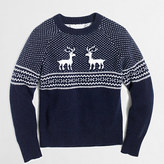 J.Crew Factory Boys' reindeer Fair Isle sweater