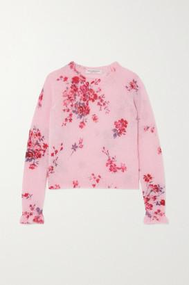 Philosophy di Lorenzo Serafini Ruffled Intarsia Knitted Sweater - Pink