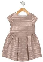 Lili Gaufrette Girls' Metallic-Accented A-Line Dress