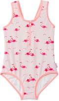 Seafolly Girls' Flamingo Road Zip Front One Piece (2T7yrs) - 8123214