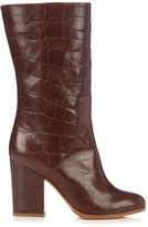 Alexa Wagner Heidi crocodile-effect leather boots