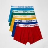 River Island Red Multi Coloured Hipster Boxers Multipack
