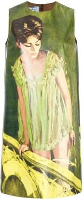Prada Pin up print shift dress