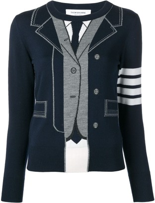Thom Browne Suit-Pattern Jumper