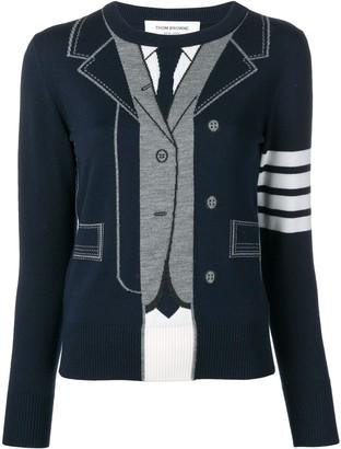 Thom Browne Trompe L'oeil Tb suit jumper