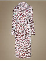 M&S Collection Animal Print Carved Dressing Gown