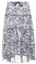 See by Chloe Printed cotton and silk skirt