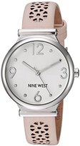 Nine West Women's Quartz Metal and Polyurethane Dress Watch, Color:Pink (Model: NW/1781SVLP)