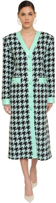 ROWEN ROSE Oversize Wool Houndstooth Coat