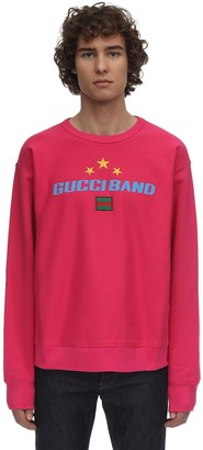 Gucci Logo Heavy Cotton Jersey Sweatshirt
