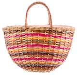 Moschino Wicker Handle Bag