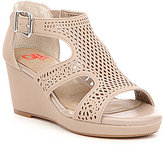GB Girls Crafty-Girl Perforated Wedge Sandals