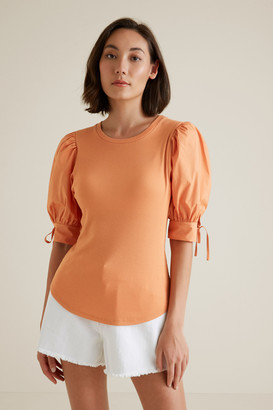 Seed Heritage Puff Tie Sleeve Top