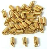 FindingKing 36 Plated End Caps Necklace Chain Cord Connectors