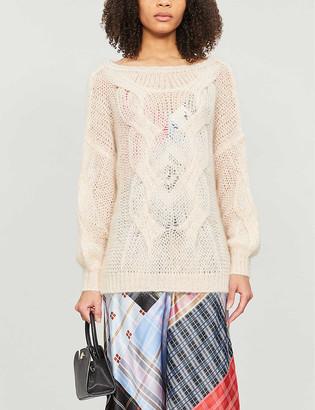 Maje Morsade cable knit jumper