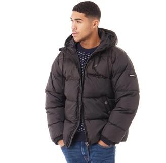 G Star G-STAR Mens Swando Block Hooded Jacket Dark Black