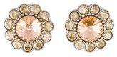 Miu Miu Crystal Flower Clip-On Earrings
