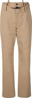 Delada Raw-Edge Rip Front Trousers