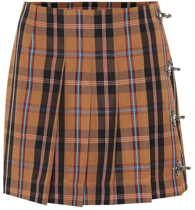 Rokh Plaid miniskirt