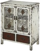 Powell Parcel 2-Drawer Distressed Floor Cabinet