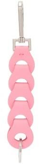 Bottega Veneta Chain-link Leather Key Ring - Womens - Pink Multi