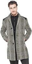 GUESS Men's Brixston Checkered Coat